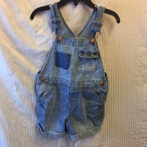 Energetic New Oshkosh Girls Patch Rainbow Denim Jeans Overalls Vestbak Nwt 12m 18m 24m 4t Baby Clothing